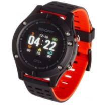 Smartwatch, Garett Sport 25 GPS Fekete - Piros Okosóra