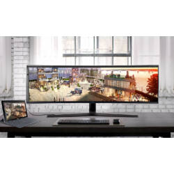 "Samsung 49"" C49J890DKU LED 4K HDMI Display port 144Hz ívelt kijelzős monitor"