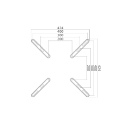 LOGILINK -  VESA Adapter (up to 400x400), 32-55', max. 30 kg