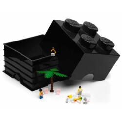 LEGO Storeage Brick 4 - Fekete (40031733) tároló blokk