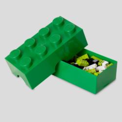 LEGO Storeage Brick 8 - Sötétzöld (40041734) tároló blokk