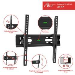 ART AR-47 23-55'' LCD/LED/PLAZMA TV tartó fekete 40KG dönthető