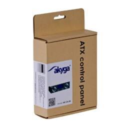 Akyga LCD 5.25'' panel for ATX case 2xUSB3.0 AK-CA-24