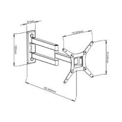 ART AR-57 LCD TV tartó| fekete 22-32'' 20KG | VESA