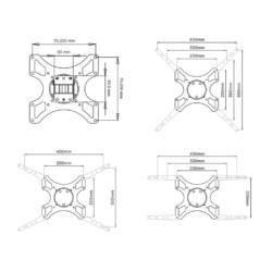 ART AR-06XL LCD TV tartó | fekete | 19-46'' 35KG | VESA