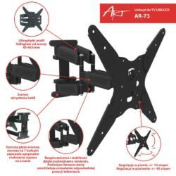 ART AR-73 LCD/LED TV tartó 19-55'' 35kg dönthető/fordítható