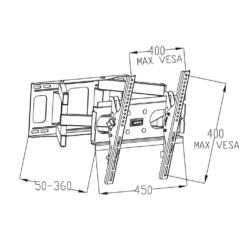 ART AR-51 23-60'' 50kg  LCD/LED dönthető/fordítható