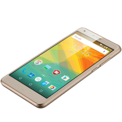 "Prestigio Grace S7 LTE, PSP7551DUO, dual SIM, 4G, 5.5"" (720*1280) IPS 2.5D display, Android 7.0 Nougat, quad core 64bit, 2GB RAM + 16GB eMMC, 8.0MP front + 13.0MP AF BSI rear camera with quad-LED flash, 5000mAh battery, golden"