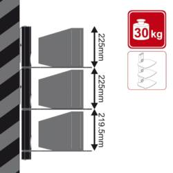4World DVD/Blu-Ray Player falitartó, max 3x10kg, WHT