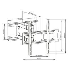 ART AR-70 LCD/LED/PLASMA TV tartó 23-55'' 45kg dönthető/fordítható
