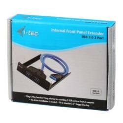 i-tec USB 3.0 extender frontpanelre, 2 x USB 3.0 A típusú port