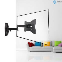 4World LCD 15-43'' falitartó VESA 75/200 dönthető/forgatható kar max.25kg BLK