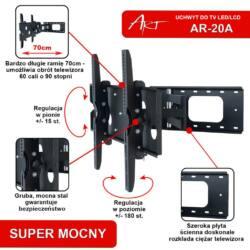 ART AR-20A LCD / LED / Plasma TV tartó 32-60 ''60kg dönthető/forgatható