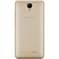 "Prestigio Muze G3 LTE, PSP3511DUO, dual SIM, 4G, 5.0"" (720*1280) IPS display, Android 6.0 Marshmallow, quad core 1.3GHz, 1GB RAM + 8GB eMMC, 0.3MP front + 8.0MP AF rear camera with LED-flash, 2400mAh battery, golden"
