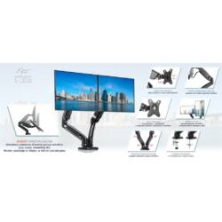 ART L-16GD asztali rugós 2xLED/LCD monitor tartó 13-27''