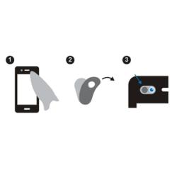 LOGILINK - Webcam cover for laptop, smartphone und tablet PCs