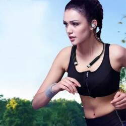 FINEBLUE FD-600 Bluetooth sport fülhallgatók érintésmentes fekete ezüst