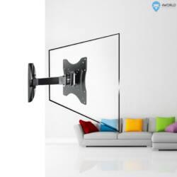 4World LCD 13-43'' falitartó dönthető/forgatható kar 23cm max 30kg BLK