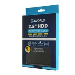 4World HDD 2.5 SATA II, alumínium külső ház, fekete