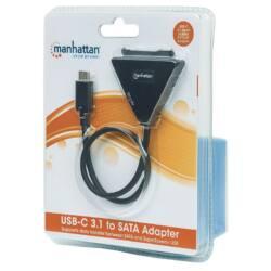 Manhattan Adapter átalakító SuperSpeed+ USB-C 3.1 Gen2 na SATA 2.5''/3.5''