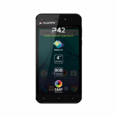 "Allview P42 4"" 3G 8GB Dual SIM fekete okostelefon"