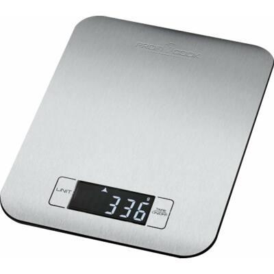 Proficook KW1061 digitális konyhai mérleg, rozsdamentes, 5kg-ig