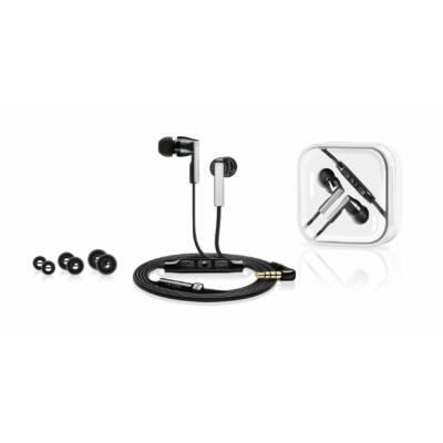 Sennheiser CX 5.00i Black Stereo fülhallgató mikrofonnal - fekete mély basszus füldugó készlettel