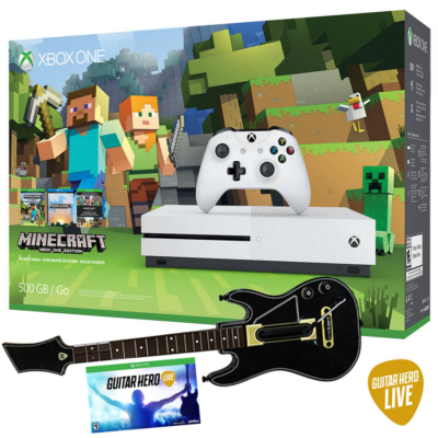 Microsoft XBOX One S (slim) 500Gb konzol - Minecraft - Guitar Hero Live Bundle