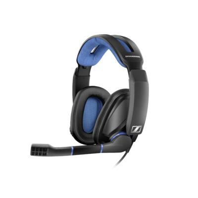 Sennheiser GSP 300 (Iron) Stereo Gamer fejhallgató  - fekete kék PC Mac PS4 multiplatform