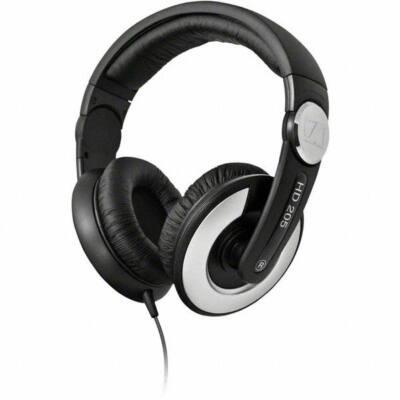 Sennheiser HD 205 II WEST Stereo DJ fejhallgató  - fekete ultra kényelmes forgatható fülkagylóval