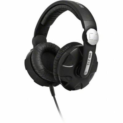 Sennheiser HD 215 II WEST Stereo DJ fejhallgató  - fekete ultra kényelmes forgatható fülkagylóval
