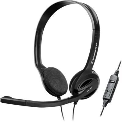 Sennheiser PC 36 CALL CONTROL Stereo fejhallgató PC headset USB - fekete 3-1 ben vezérlővel könnyű masszív