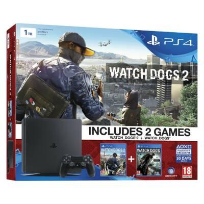 PlayStation 4 Slim 1TB Watch Dogs Bundle - PS4