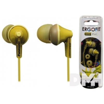 Panasonic RP-HJE125E-Y sárga fülhallgató