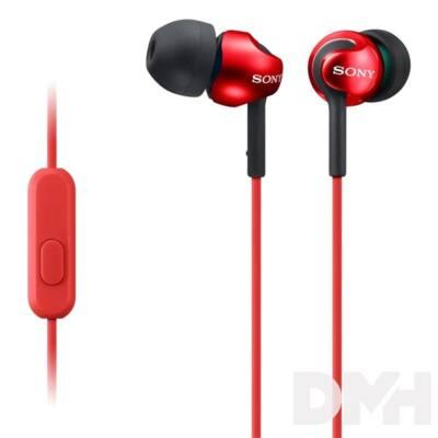 Sony MDREX110APR.CE7 piros mikrofonos fülhallgató