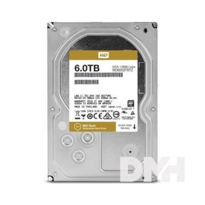 "Western Digital 3,5"" 6000GB belső SATAIII 7200RPM 128MB Gold WD6002FRYZ winchester"