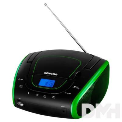Sencor SPT 1600 BGN CD/USB/Mp3 fekete-zöld Boombox