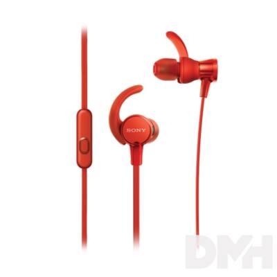 SONY MDRXB510ASR.CE7 sport piros fülhallgató