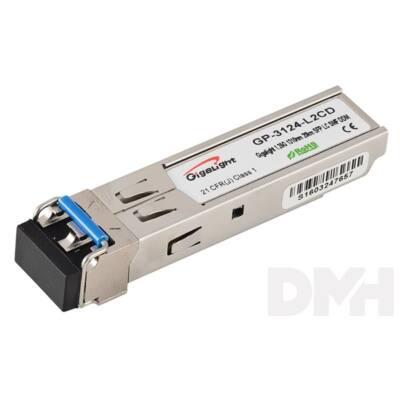 Gigalight SFP modul, 1.25G, 1310nm, 20km távolság, 0~70 hőm. tart., DDM funkció