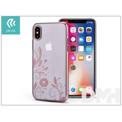 Devia ST305559 Crystal PETUNIA iPhone X rózsaarany hátlap
