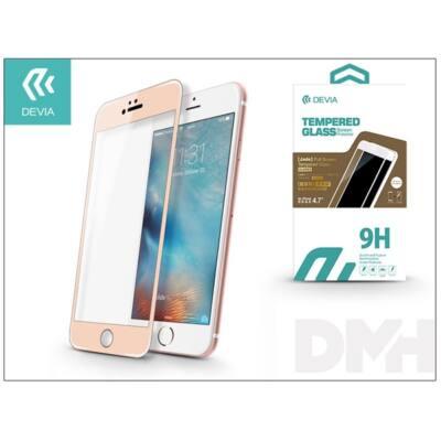 Devia ST982744 JADE2 iPhone 6/6S pezsgőarany üveg képernyő + Crystal hátlapvédő fólia