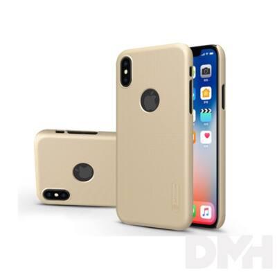 Nillkin NL147362 FROSTED Logo iPhone X arany hátlap képernyővédő fóliával