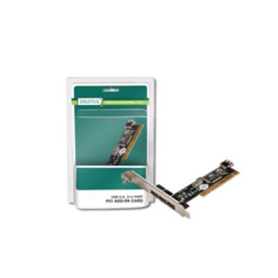 DIGITUS PCI vezérlő , 4 x USB 2.0, VIA chipset