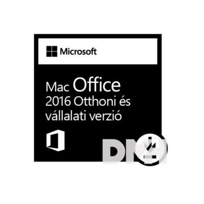Microsoft Office 2016 MAC Otthoni és kisvállalati verzió Elektronikus licenc szoftver