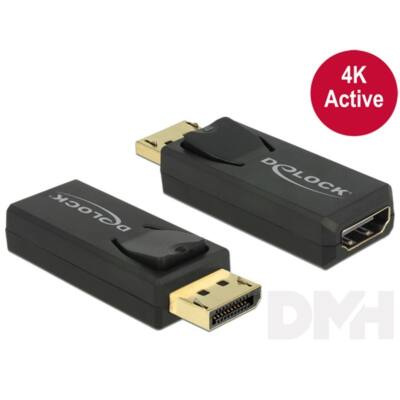 Delock 65573 Displayport 1.2 dugó > HDMI hüvely 4K aktív fekete adapter