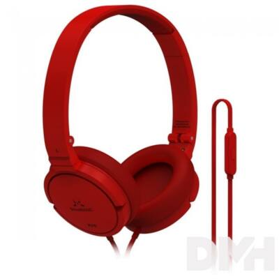 SoundMAGIC P21S On-Ear piros headset
