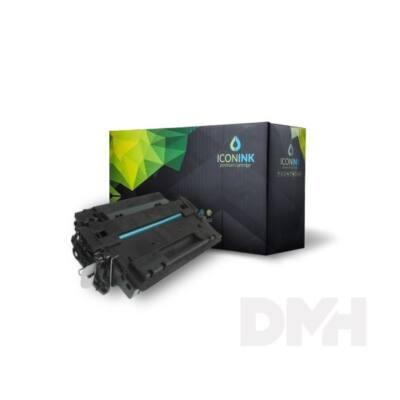 Iconink HP CE255A Canon CRG-524 utángyártott 6000 oldal fekete toner