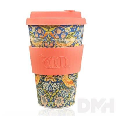 Ecoffee Cup Thief 400ml hordozható madár-növény mintás kávéspohár
