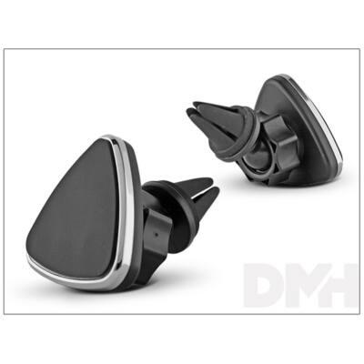 Haffner TTPH-026D univerzális szellőzőrácsba rögzíthető mágneses ezüst autós tartó