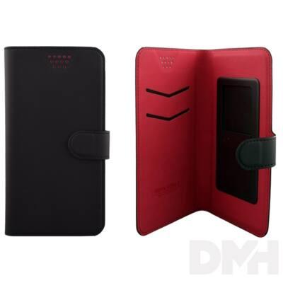 """Max Mobile 5,2""""-ig öntapadós univerzális fekete-piros oldalra nyíló tok"""